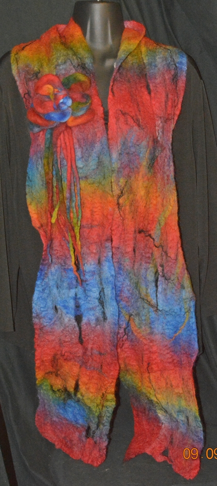 80 inches long by 7 to 8 inches wide. $125.00 includes Priority Mail Shipping within the USA.