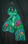 Butterfly Garden Cobweb Felted scarf